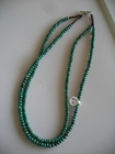 Two Strands :: Green Turquoise Discs