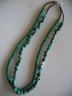 Two Strands :: Green Turquoise Discs and Nuggets