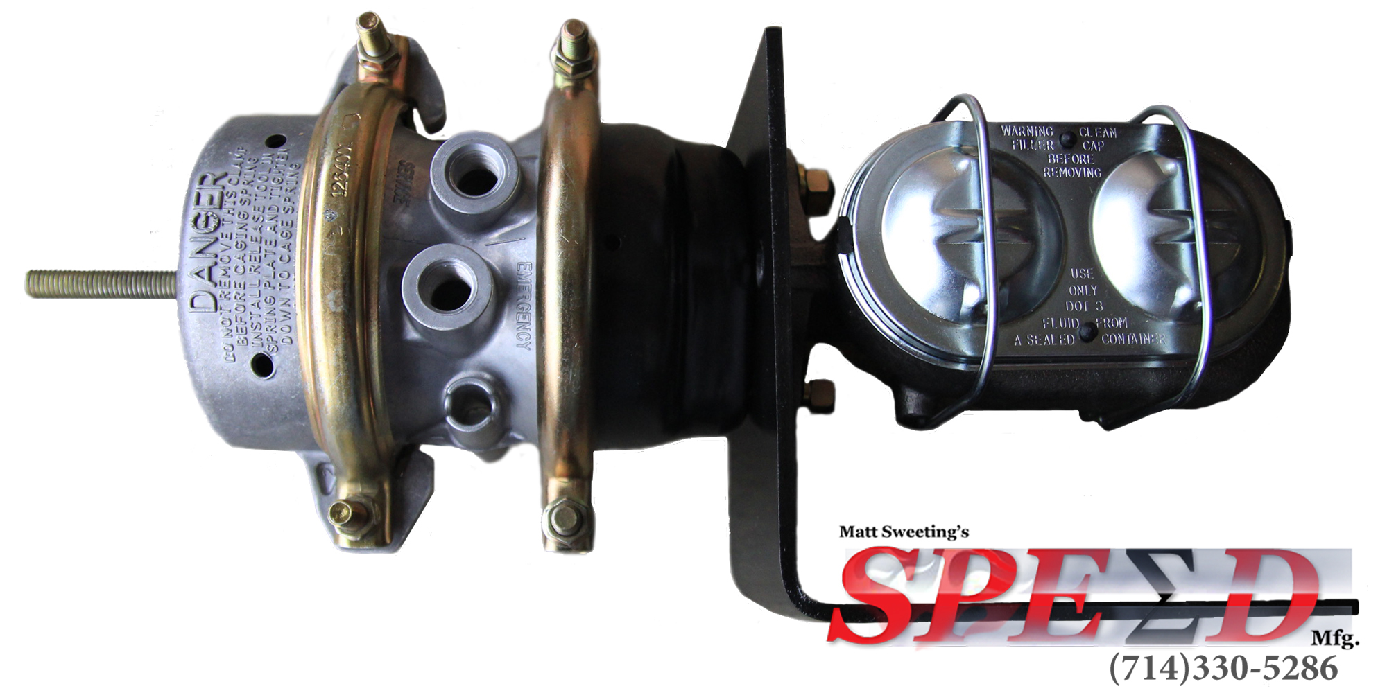 Air/Hydraulic Brake Booster (W/ Master Cylinder up to 1-1/2