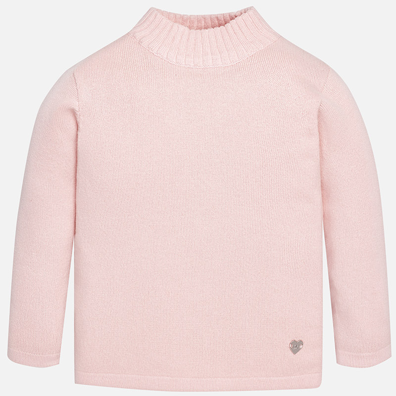 Mayoral - Light Pink Lightweight Sweater Mock Turtleneck #316