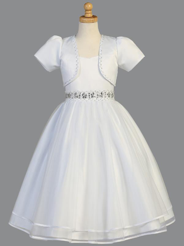Swea Pea Lilli Lito Plus Size First Communion Dress Sp998x White
