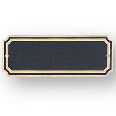 1-1/2 x 4 Inch Black Screen Plate with Gold Trim