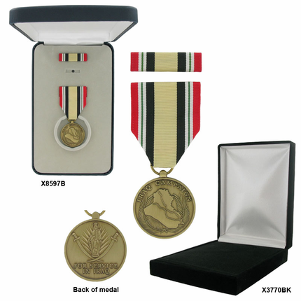 1-1/4 Inch Iraq War Campaign Military Medal