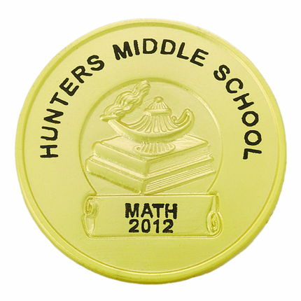 1-1/4 Inch Lamp of Learning Pin-Imprint Option