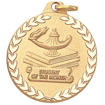 "1-1/4 Inch Lamp of Learning ""Student of the Month"" Medal"