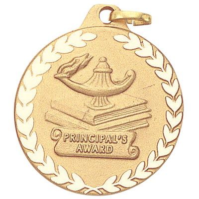 "1-1/4 Inch ""Principal's Award"" with Lamp of Learning Medal"