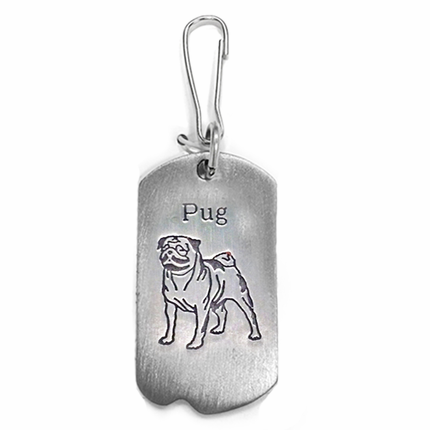 1-1/8 Inch Fine Pewter Pug-St. Francis of Assisi Dog Tag