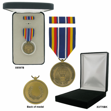 1-3/8 Inch Global War On Terrorism Service Military Medal