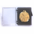 1-5/8 x 2-1/8 x 1/4 Inch Plastic Hinged Box with Black Foam and Clear Top for Medals/Coins