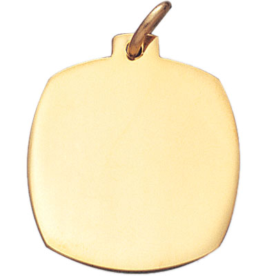 1 Inch Polished Plain Gold Plated Medal-Engraveable