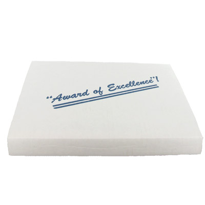 10-1/8 x 8-1/8 Inch White Box-For Plaques