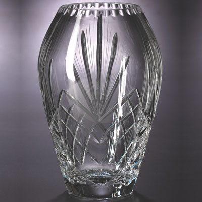 10 Inch And 24 Lead Crystal Glass Vase