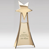 11 Inch Bright Gold Finish Shooting Star Tower Trophy