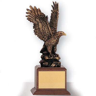 12 Inch Bronze Electroplated Eagle Trophy