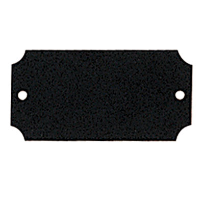 2-1/2 x 1-1/4 Inches Black Plate with Notched Corners
