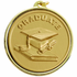 "2-1/4 Inch Medal Frame with 2 Inch ""Graduate"" with Graduation Cap and Scroll Medallion Insert Disc"