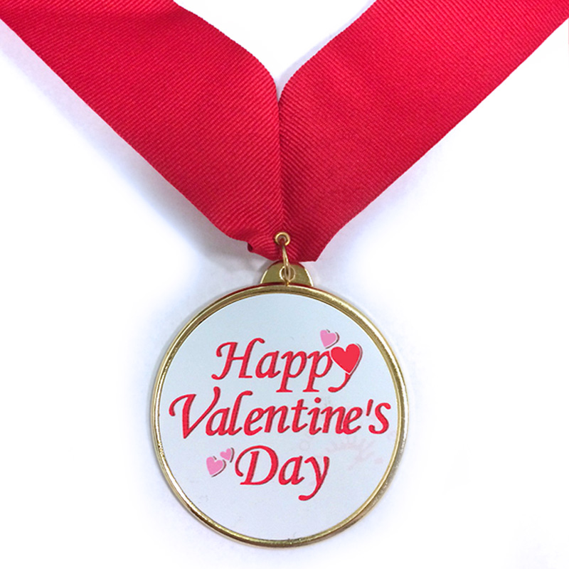 2 14 Inch Medal Frame With 2 Inch Happy Valentines Day Insert And