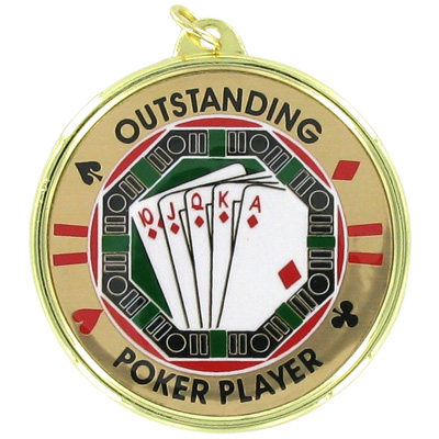 2-1/4 Inch Medal Frame with 2 Inch Poker Mylar Insert Label