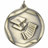 2-1/4 Inch Graduation Satin Medal in Antique Gold, Silver or Bronze Finish