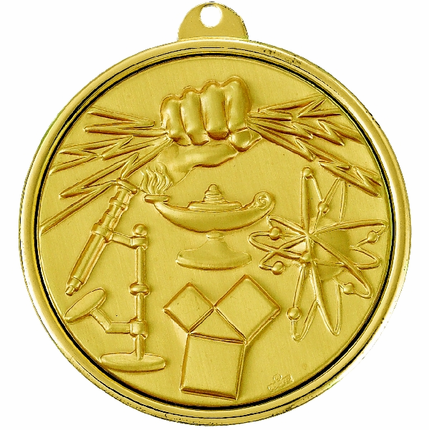2-1/4 Inch Medal Frame with Science Fair Medallion Insert Disc