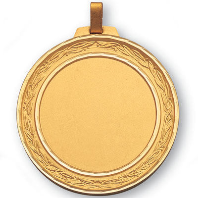2 3/4 Inch Medal Diamond Cut Border Frame-Holds 2 Inch Medallion Insert Disc