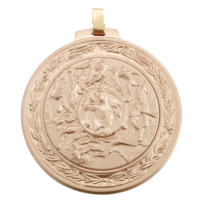 2-3/4 Inch Medal Wreath and Diamond Cut Border Frame with 2 Inch Air Force Insignia Medallion Insert Disc