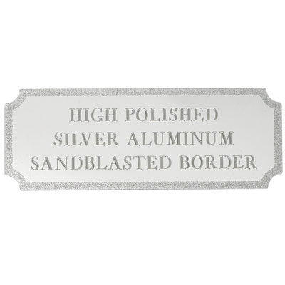 2-7/16 x 1 Inch Silver Embossed and Polished Plate