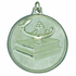 2 Inch High Relief Lamp of Learning on Book Medal