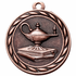 2 Inch Lamp of Knowledge Medal in Antique Brass, Silver or Bronze