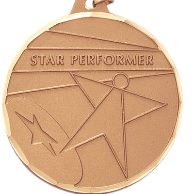 "2 Inch Diamond Cut Border ""Star Performer"" with Star Medal"