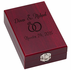 2 Piece Wine Gift Set in Rosewood Box, Size 6-1/2 x 4-1/4 x 2