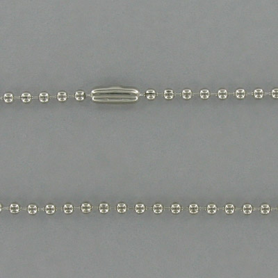 24 Inch Stainless Steel Beaded Chain
