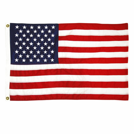 3x5 Ft. Nylon American Flag with Sewn Stripes and Embroidered Stars