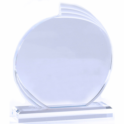 6 Inch Clear Acrylic Round Flair Award