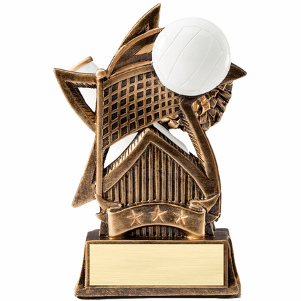 6 Inch Sweeping Star Volleyball Resin Trophy