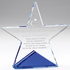 6 x 6 Inch Optical Cut Crystal Star on Blue Base