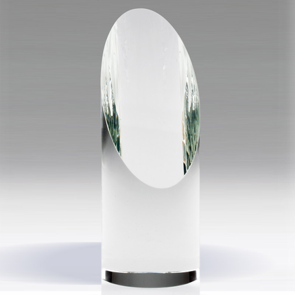 7-1/2 Inch Spotlight Slanted Optical Crystal Tower