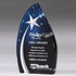 7-3/4 Inch Blue Acrylic Award with Silver Shooting Star
