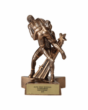 Free Engraving 21cm Tall Male Wrestling Trophy