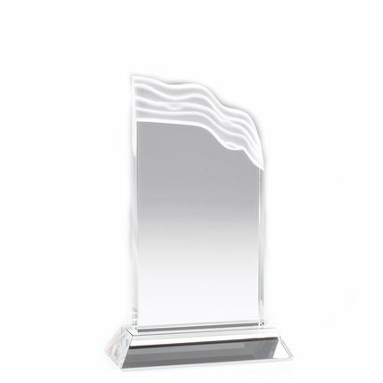7 Inch Optical Crystal Wave Trophy