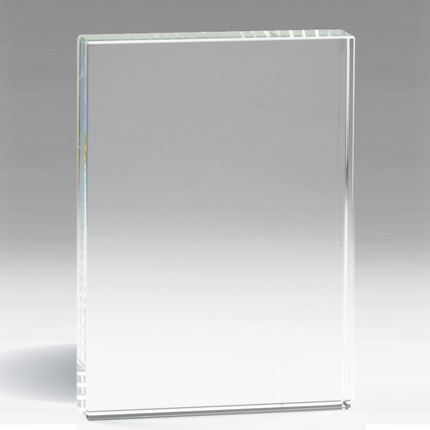 5 Inch Standing Rectangular Optical Crystal Desk Block