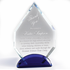 8 Inch Arrowhead Optical Crystal Award with Blue Base