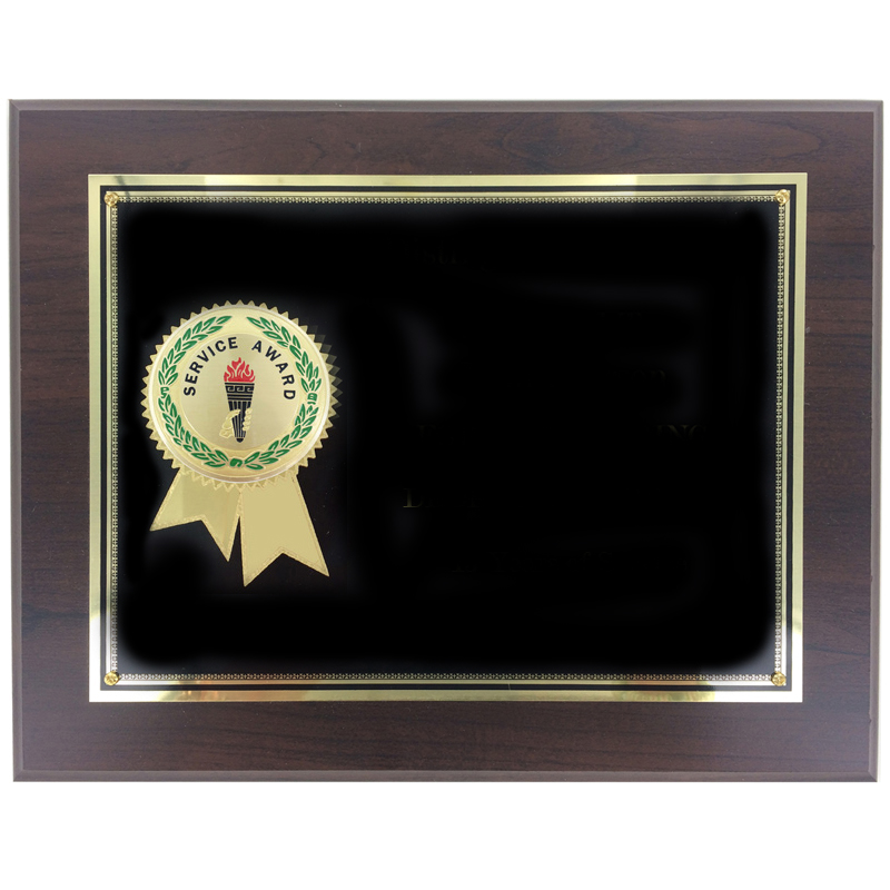 Years Of Service Award Template: 8 X 10 Inch Service Award Certificate Plaque