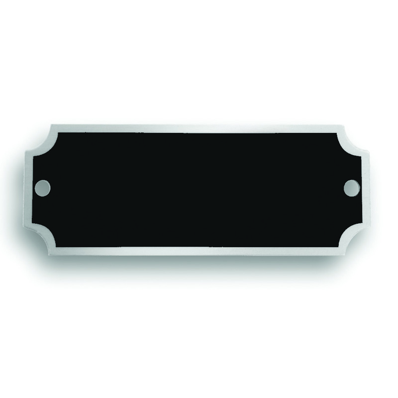 2 1 2 x 7 8 inches black matte silver aluminum name plate - Brass name plate designs for home ...