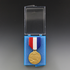 3-3/4 x 2-3/4 x 3/4 Inches Blue and Clear Plastic Hinged Presentation Box