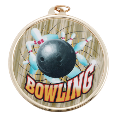 2-1/4 Inch Medal Frame with 2 Inch Bowling Mylar Insert Label
