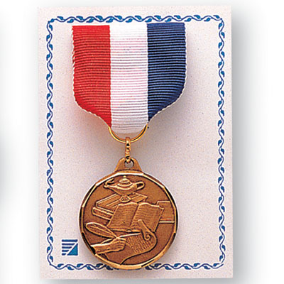 3-1/2 x 4-1/2 Inch Card and Cello-For Medal and Ribbon