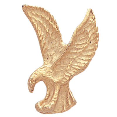 7/8 Inch Gold Eagle Lapel Pin
