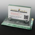 4-3/4 x 2-7/8 x 2-3/8 Inches Glass Business Card Holder