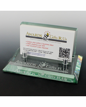 Card holders 4 34 x 2 78 x 2 38 inches glass business card holder colourmoves